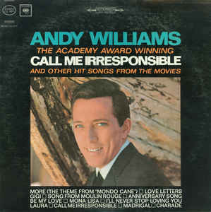 ANDY WILLIAMS - The Academy Award Winning Call Me Irresponsible And Other Hit Songs From The Movies - Maxi 45T