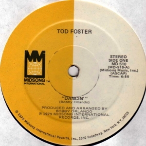 TOD FOSTER ‎ - Dancin' / I Fell In Love With An Angel - Maxi 45T